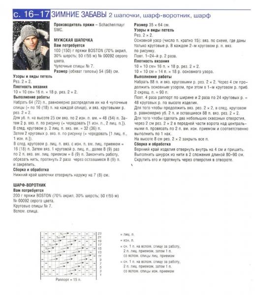 Мужской снуд спицами или крючком: схемы и описание