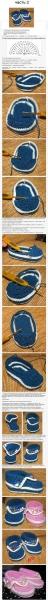 Вязать пинетки крючком для начинающих пошагово видео