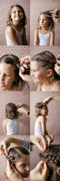 Косички для девочек: 100 причесок с пошаговыми фото