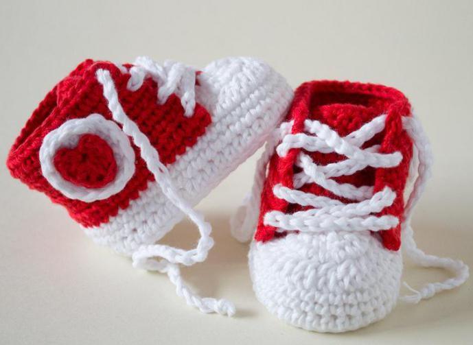 Пинетки крючком для новорожденных: схемы и описание