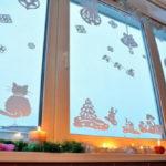 Рисунки на окнах к Новому году 2018 зубной пастой, гуашью, витражными красками: Что и как нарисовать на оконном стекле дома, в школе и детском саду (трафареты)