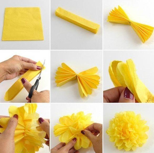 Цветы из гофрированной бумаги своими руками пионы