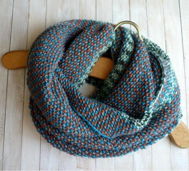 шарф спицами 2017 схема