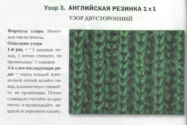 английская резинка спицами схема вязания техника и применение
