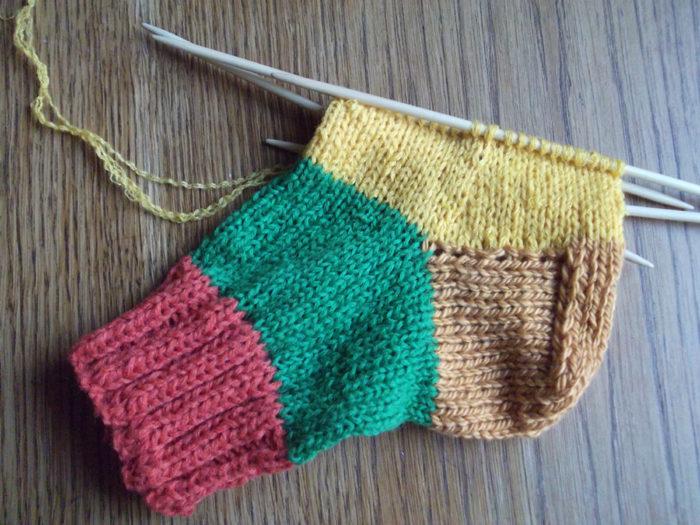 Вязание носочков спицами 42