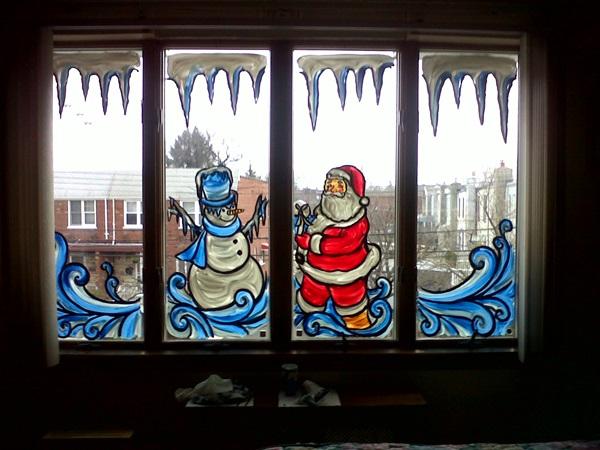 Что и как нарисовать на окнах