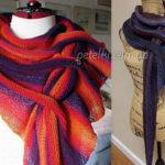 Изумительный норвежский треугольный шарф — бактус: схемы и подробности вязания…