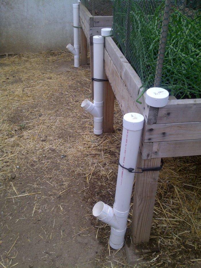Кормушки для кур из канализационной трубы своими руками 57